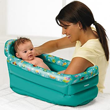 Tomy Be Baby Inflatable Travel Bath: Amazon.co.uk: Baby