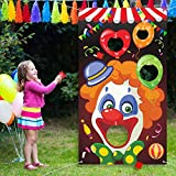 Carnival Toss Games with 3 Bean Bag, Fun Carnival Game for Kids and Adults in Carnival Party Activities, Great Carnival Decorations and Suppliers (Clown)