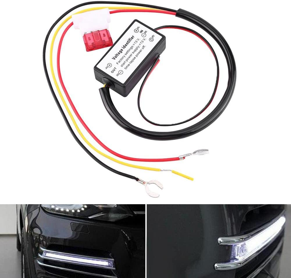 Universal 12-18V LED Daytime Running Lights Auto On//Off Switch Controller Daytime Running Lights Controller