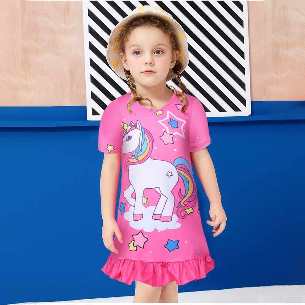 Little Girls Princess Pajamas Toddler Nightgown Dress