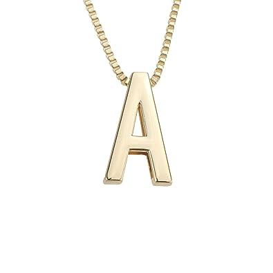 Amazon.com: Coolcoco - Collar con colgante de letra inicial ...
