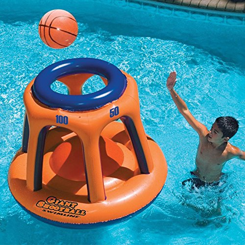 61CIopdV RL - Swimline Giant Shootball Basketball Swimming Pool Game Toy