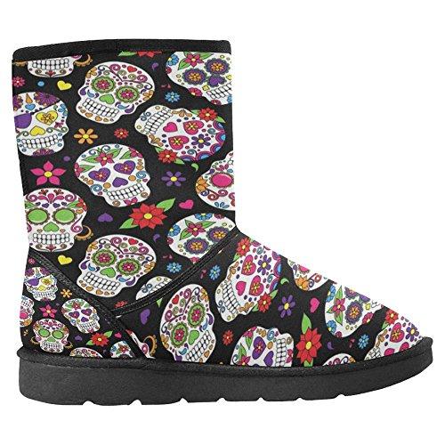 Snow Boots Da Donna Interesse Design Unico Invernale Comfort Stivali Multi 6