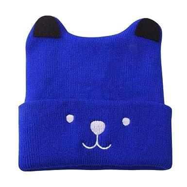 Bonnet Bébé, Enfant Jeune Fille   Boy Tricot Dessin Animé Ours Chaud  Crochet Bonnet Chapeau 7e1079cf192