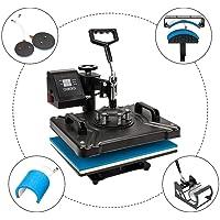 "ROVSUN 5 in 1 Digital Heat Press Transfer Sublimation Multifunction Machine,Rhinestone/T-Shirt/Hat/Mug/Plate/Cap Heat Press Mouse Pads Jigsaw Puzzles DIY Press,12""x15""w/Dual LED Timer 1250W"