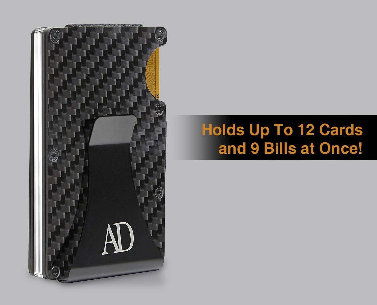 Minimalist Aluminum Wallet for Men Mens Wallet Slim Card Holder Money Clip Wallet Metal RFID Carbon Fiber Wallets for Men