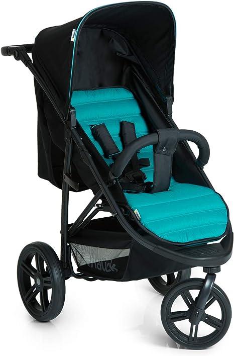 Opinión sobre Hauck Rapid 3 - silla de paseo de 3 ruedas con posiciones en respaldo, plegado compacto, plegando con solo una mano, manillar regulable, desde nacimiento hasta 25kg, caviar turquoise (negro, azul)