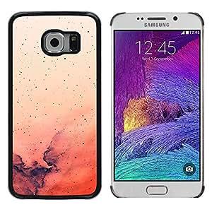 GIFT CHOICE / Teléfono Estuche protector Duro Cáscara Funda Cubierta Caso / Hard Case for Samsung Galaxy S6 EDGE // Beautiful Red Pink Watercolor Art //