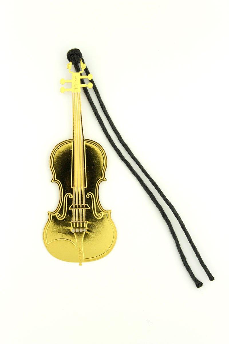 B/ücherfreunde und Dekorations Experten Lesezeichen aus Metall Violine Geige Sch/önes Geschenk f/ür Musiker