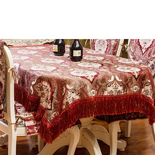 Thick chenille european style tablecloth jacquard round rectangular table covers furniture cover cloth-C 150x210cm(59x83inch)