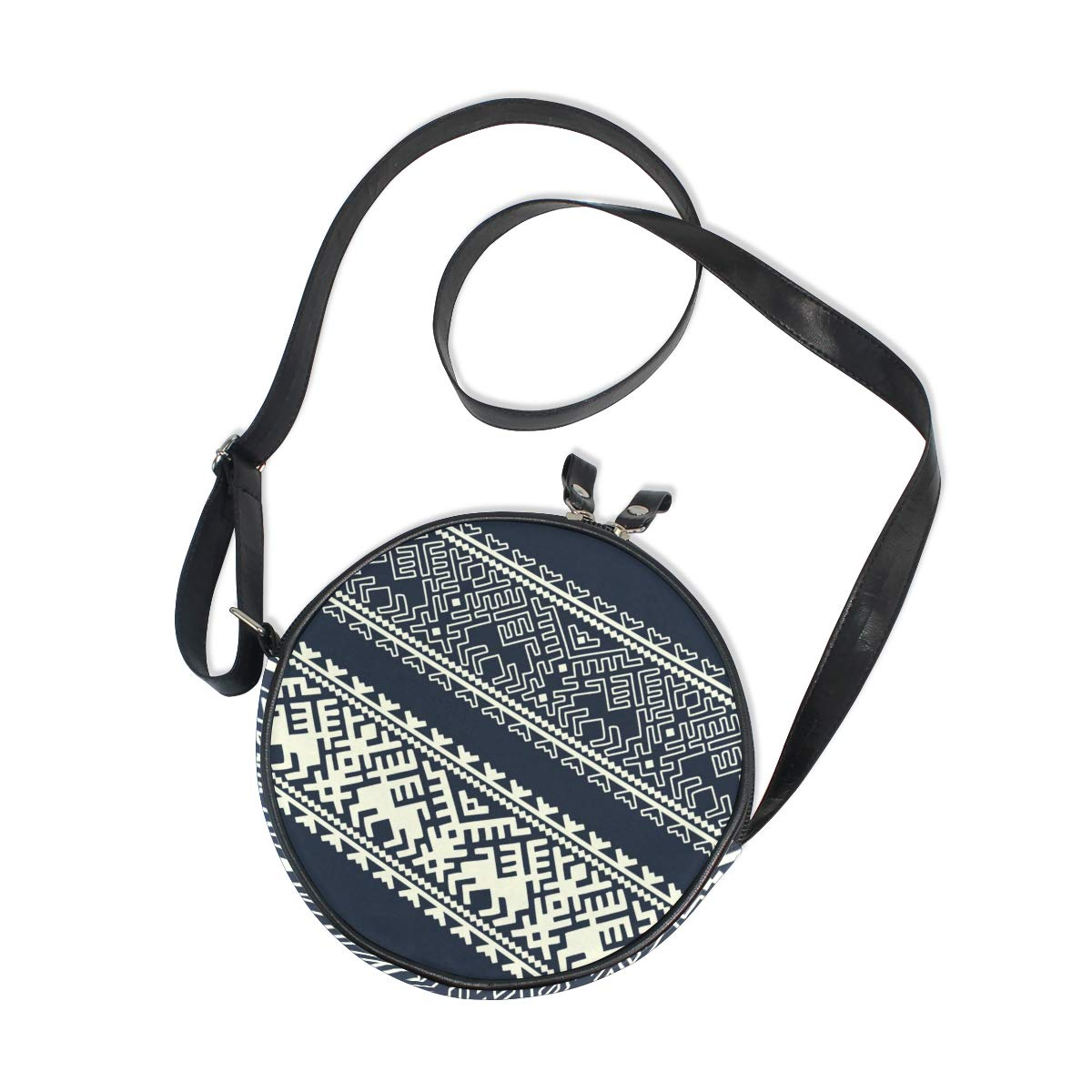 Pattern On Fabric Texture For Background Super Cute Design Small Canvas Messenger Bags Shoulder Bag Round Crossbody Bags Purses for Little Girls Gifts