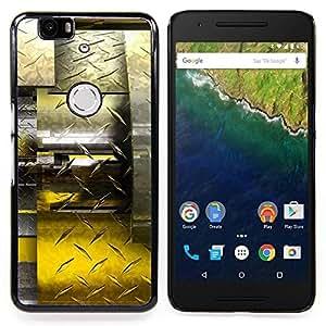 BullDog Case - FOR Huawei Nexus 6P - Abstract Diamond Steel - Custom pl¨¢stico duro Volver Funda