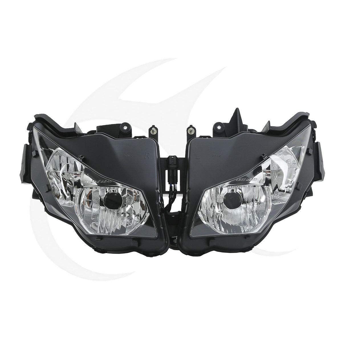 XFMT Front Headlight Light Clear Lens Assembly Compatible with Honda CBR1000RR 2012-2015 2013