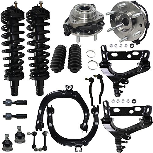 Detroit Axle - Brand New 18pc Complete Front Suspension Kit for Chevy Trailblazer and GMC Envoy - 6-Lug w/ABS ()