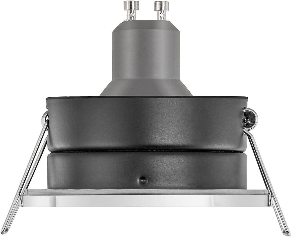 Ledox - Foco LED para baño (IP65, regulable, incluye marco de montaje Lista Aqua, cromado, 230 V, 7 W, GU10, 3000 K, luz blanca cálida, iluminación de baño, ducha y habitación húmeda): Amazon.es: Hogar