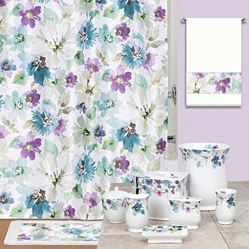 DS BATH Bouquet Shower Curtain,Floral Shower Curtain,Mildew Resistant Fabric Shower Curtains for Bathroom,Contemporary Bathroom Curtains,Print Waterproof Polyest,72