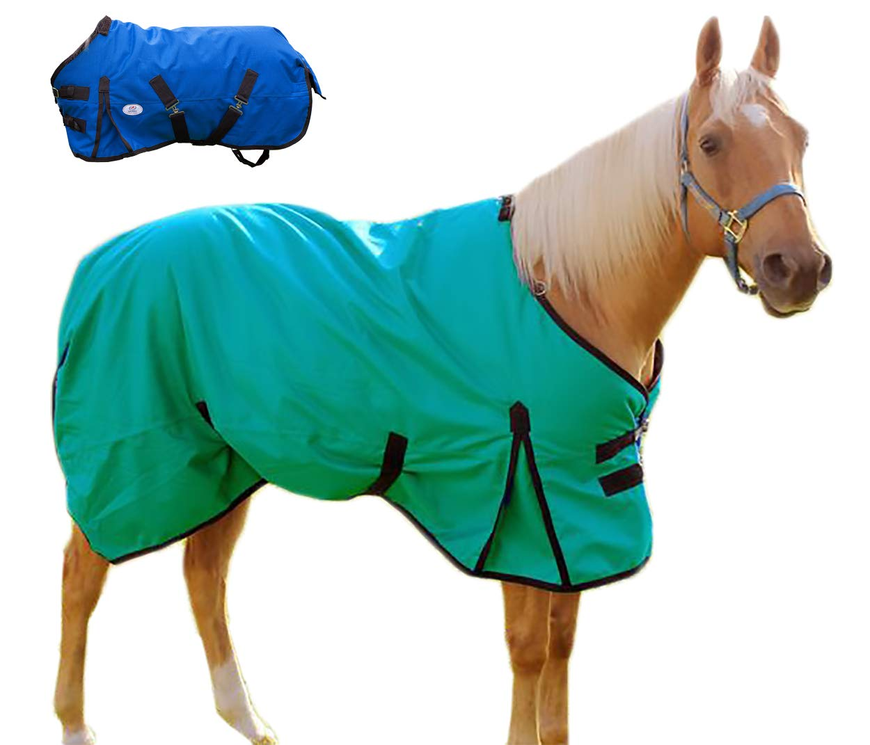 Derby Originals 1200D Ripstop Waterproof Nylon Horse Winter Turnout Blanket with 300g Polyfil Insulation - Two Year Limited Manufacturer's Warranty Royal International 80-8037-GY-78