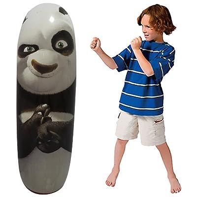 1M Vent Toys Inflatable Tumbler Training Fitness Boxing Kongfu Panda Hanging Kick Fight Bag Punch Punching Bag Airbag