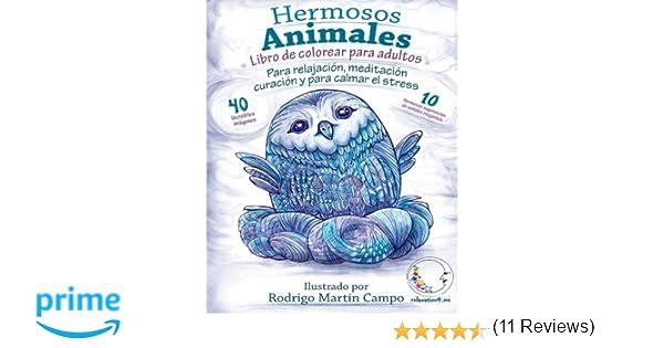 Libro de Colorear para Adultos Contra El Stress: Hermosos Animales ...
