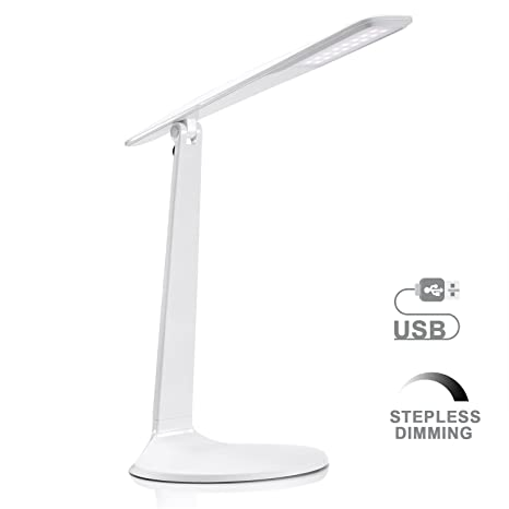Led desk lamp avaway stepless dimmable table lamp usb powered led desk lamp avaway stepless dimmable table lamp usb powered foldable reading lamp for aloadofball Gallery