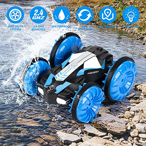 (KOOWHEEL RC Cars, Land and Water 2 in 1 Remote Control Car Boat, 4WD 2.4Ghz Waterproof RC Truck Vehicles, 1:16 Remote Vehicle with 360 Degree Spins and Flips for Kids)