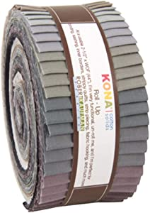 Robert Kaufman KONA COTTON SOLIDS GRAY AREA Roll Up 2.5