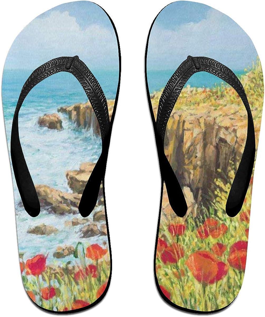 Starfish Womens Indoor Slippers Brazil Sandals for Unisex Turtle Ladninag Flip Flops Octopus
