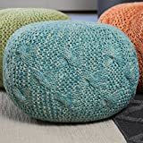 Christopher Knight Home 299704 Deon Ckh Indoor Pouf, Aqua
