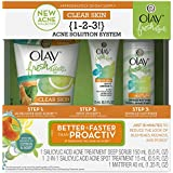 Olay Fresh Effects Clear Skin 1-2-3 Acne Solution System, 1 Kit