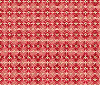 Roses Fabric Red Rose Argyle by Bloomingwyldeiris Printed on by the Yard by Spoonflower