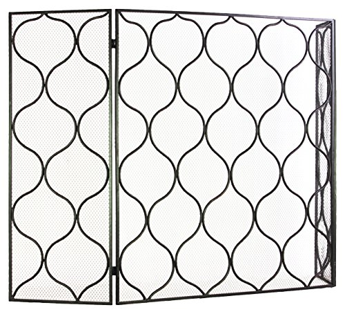 Urban Trends 12476 Metal Hinged Fireplace Screen