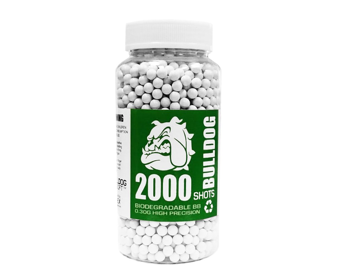 Bulldog 2000 Airsoft Pellets [0.30g] Biodegradable [6mm White] Triple Polished [Pro Team Grade]
