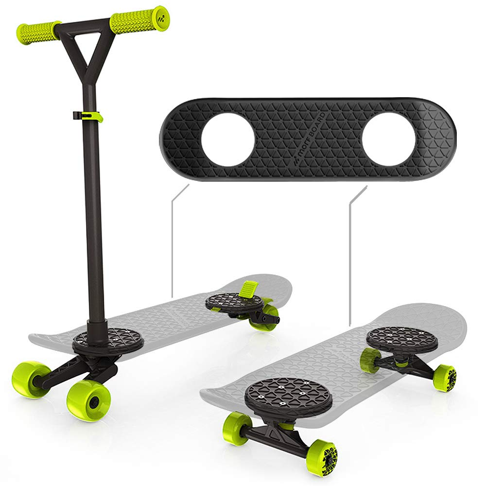 MORFBOARD Skate & Scoot Combo Set, Black/Black Color  [Amazon Exclusive] by MORFBOARD