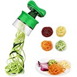 OYD Spiralizzatore Affetta Verdure Spaghetti, Spiralizzatore Affetta Verdure Spaghetti, Spiralizzatore di verdure Qualità Affettatrice Spirale Vegetale Veggetti, Zucchine Pasta Tagliatella Spaghetti