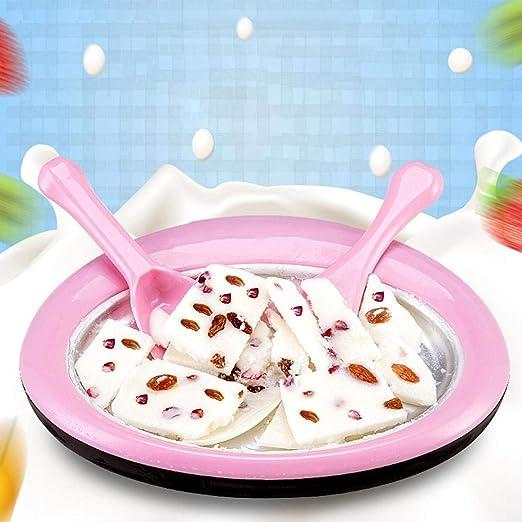 Cool Belle Summer Ice Maker DIY Fried Yogurt Machine,Household Small Ice Maker Children Fried ice Cream roll Machine Yogurt Maker Fruit for Household
