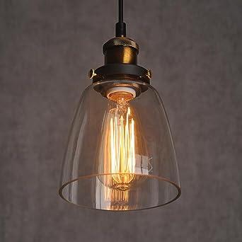 Jour À Abat Suspension Industriel Plafonnier Verre Style Lampe Lustre Pour LampeCampagne Pendentif Vintage En 1JcTlK3uF