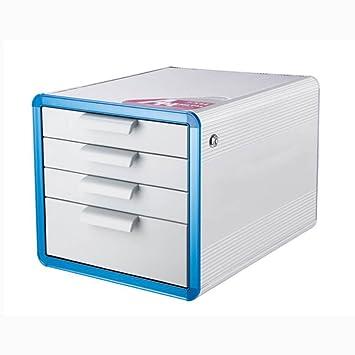 archivadores Armario de Archivo de aleación de Aluminio A4 4 Capas de Escritorio Caja de Almacenamiento archivadores: Amazon.es: Electrónica