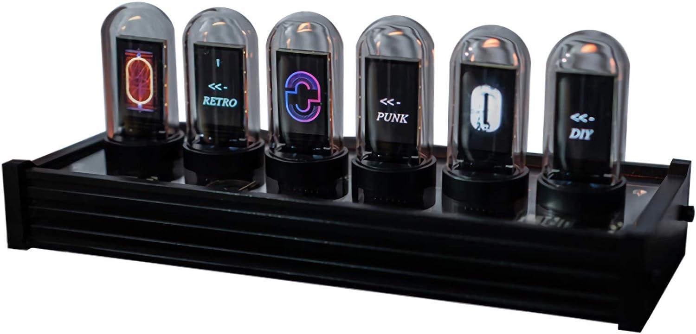 VickyPOP EleksTube Creative Electronic Clock and Exquisite Technology-Sense Home Furnishings Add to The Joy of Life (EleksTube IPS)