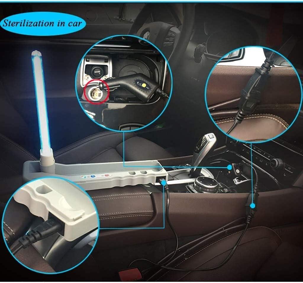 ZWXD Auto und zu Hause doppelt Mit Entkeimungslampe Movable UV-Licht UV-Lampe Sterilisation Desinfektion Lampe mit Fernbedienung Ozon-Desinfektion UV-C-Licht for Camping Hotel Car Pet WC 1220