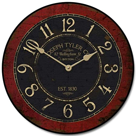 Bellingham Red Wall Clock, Available in 8 Sizes, Most Sizes Ship 2-3 Days,