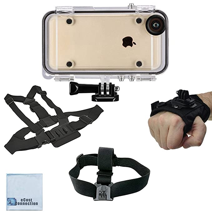 lowest price 3fe72 a660d Amazon.com: eCostConnection Extreme Sports Waterproof Case for ...