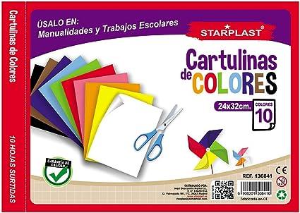 130841 - Pack de 5 Blocs de cartulinas de colores, 10 hojas cada bloc, tamaño 24x32cm: Amazon.es: Oficina y papelería
