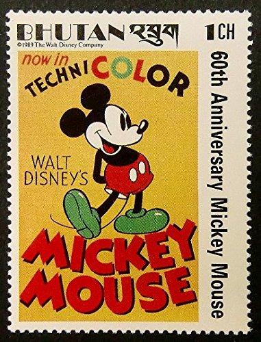 Mickey Mouse Walt Disney - Hecha a mano enmarcado sello arte 14664 ...