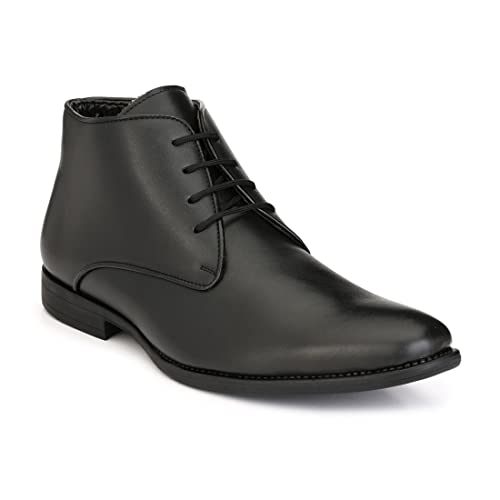 LEVANSE Leather Formal Boots Office College Shoes Black for Men   Boys  Buy  Online at Low Prices in India - Amazon.in a2dc95e87b0