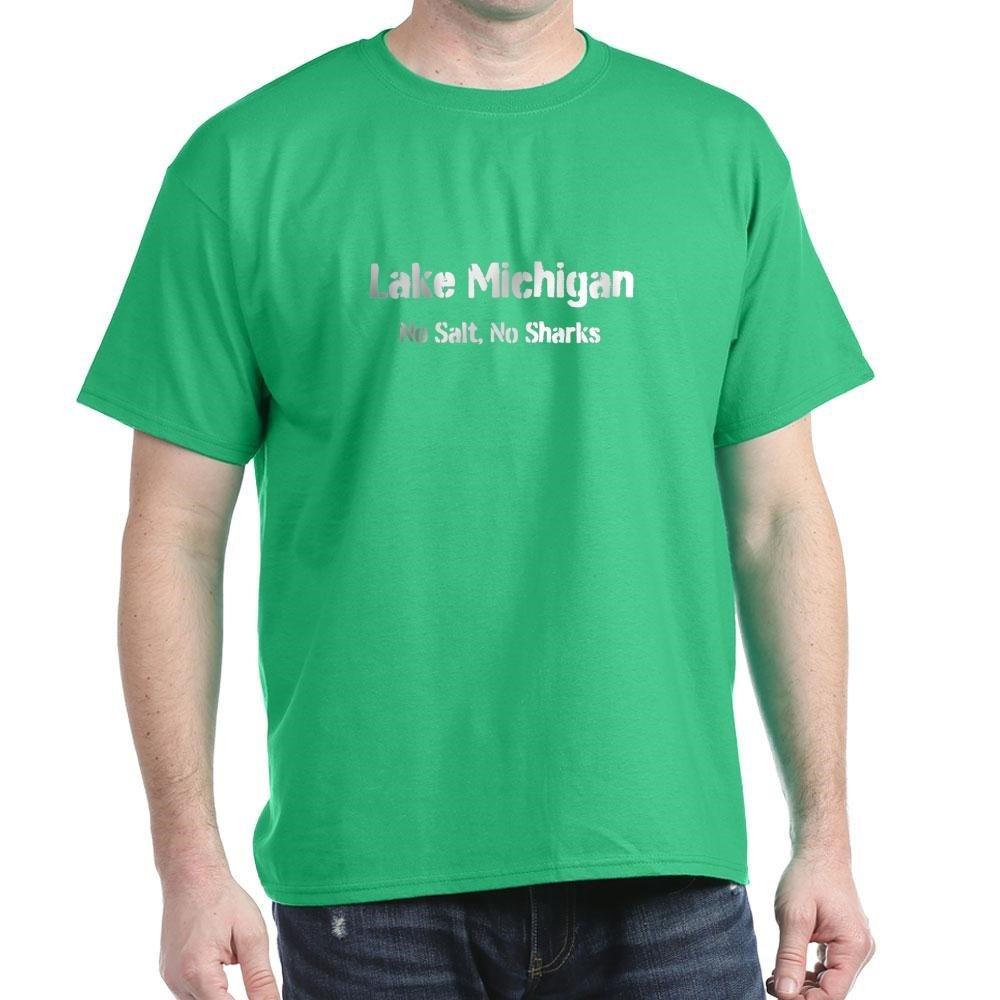 c065304a Amazon.com: CafePress Lake Michigan: No Salt, No Sharks Cotton T-Shirt:  Clothing