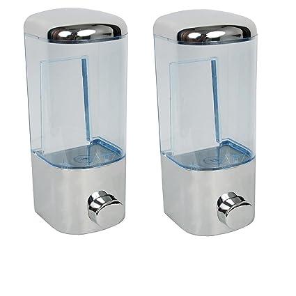 JELAXO (Combo of 2) soap Dispenser Shower lotiongel,Liquid Shampoo Pump,Mirror Finish