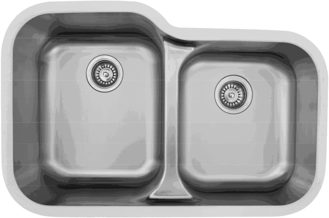 Karran E-360R Stainless Steel Undermount large small bowl kitchen sink