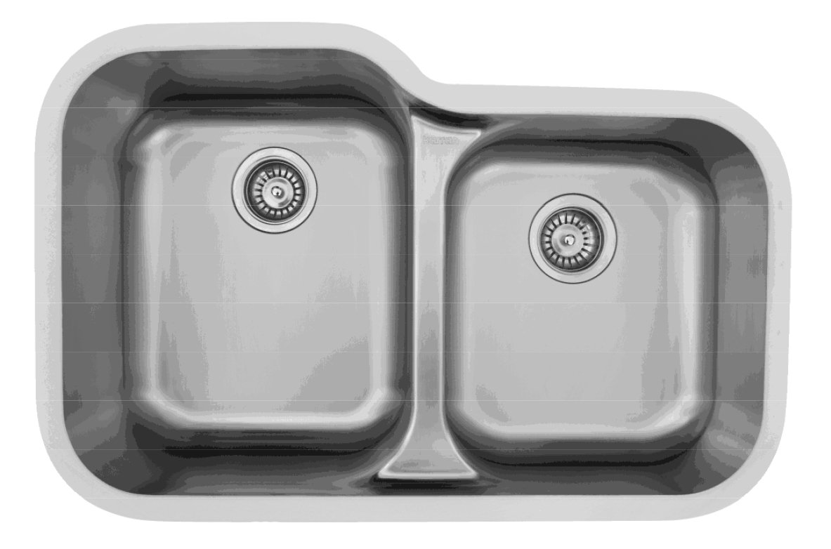 Karran E-360R Stainless Steel Undermount large/small bowl kitchen sink