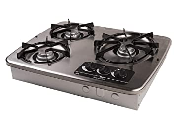 E Cooktops Find The Best Gas Cooktop For Your Boat Or Rv Dometic >> Atwood 56472 Dv 30s Stainless Steel Drop In 3 Burner Cooktop