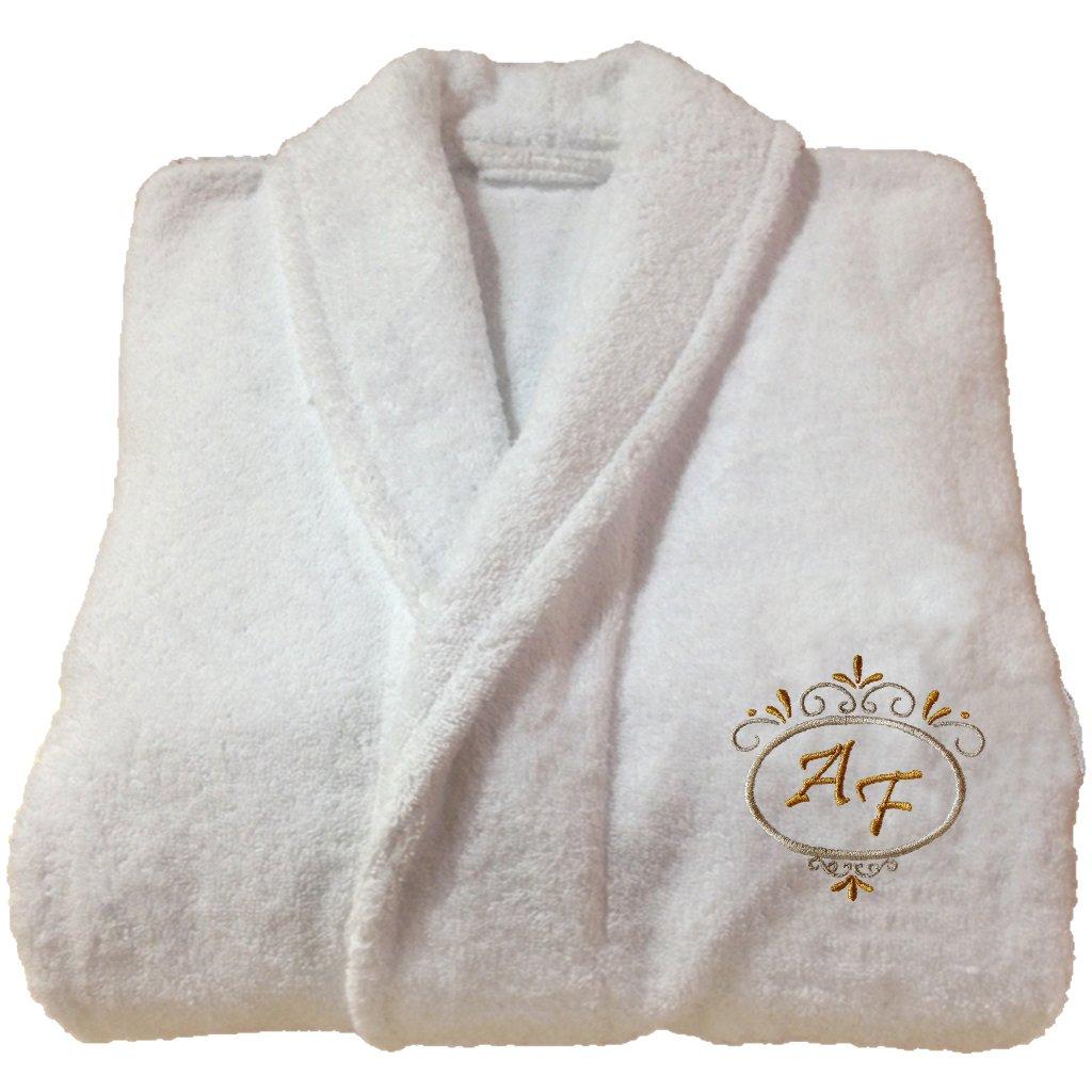 5* Personalized Embroidered Hotel Edition White Bathrobe - Ref. Deluxe (S) Maria Teixeira e Andrade Lda